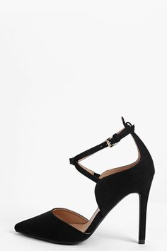 f3fe9153324ec3 ... Boohoo Nadia Pointed Cross Strap Court Dupe for the Gianvito Rossi  Pumps For Less