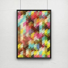 Abstract print poster mid century print poster door AngelaFerrara