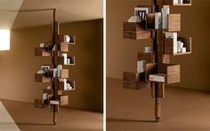 Albero, modern rotating bookshelf by Gianfranco Frattini for Poltrona Frau.