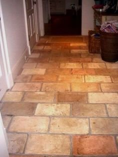 Antique Reclaimed French Parrefeuille terracotta - floor tiles - boston - by Paris Ceramics