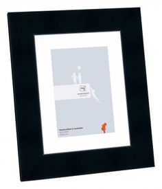 """An exquisite Black 6""""x8"""" #pictureframe part of the Cosmopolitan collection. This frame has an opening size of 4""""x6"""" and a 2.5cm Matboard. A stand back and hanger is included with your frame. https://www.pictureframes-online.com.au/picture-frames/"""