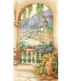 Dimensions® 9''x16'' Counted Cross Stitch-Terrace Arch at Joann.com