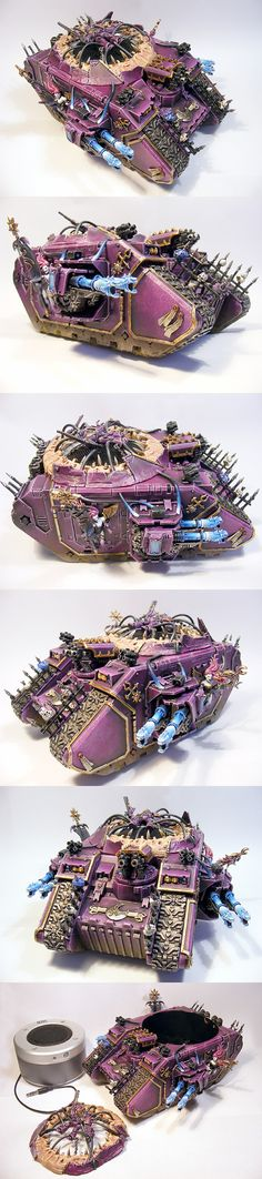 CoolMiniOrNot - Pre Heresy Emperor's Children Slaanesh Noise Marine Land Raider by DarkEyeStudios