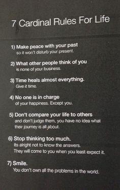 7 Rules of Life... #inspirational #naturalskincare #healthyskin #skincareproducts #Australianskincare #AqiskinCare