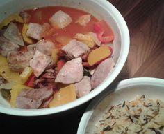 Rezept Schaschliktopf mit Reis und feuriger Soße a la Queen von Queen-of-Castle - Rezept der Kategorie Hauptgerichte mit Fleisch