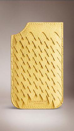 Étui pour iPhone 5/5s en peau de cerf à ruches | Burberry