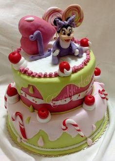 1st birthday with Minnie baby