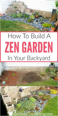 Creating a zen garden in your backyard is a great project for anyone who wants to build a low maintenance garden, or simply wants a beautiful space where they can relax and meditate. Learn more about these traditional Japanese rock gardens, and get all th Concrete Patios, Gardening For Beginners, Gardening Tips, Organic Gardening, Gardening Vegetables, Urban Gardening, Gardening Supplies, Serenity Garden, Small Japanese Garden