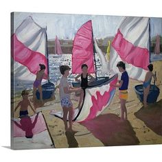Canvas On Demand 'Sailboat, Royan, France' by Andrew Macara Painting Print on Canvas