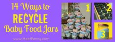 14 unique ideas for reusing baby food jars