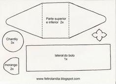 Comidinhas de feltro achadas na web! | Artesanato & Humor de Mulher