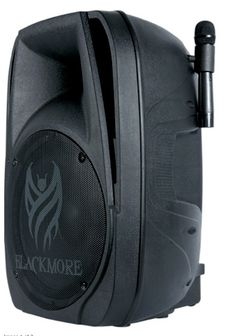"""RECHARGABLE Active 15"""" Bluetooth PA with Dual Wireless Mics Pack #Blackmorre"""