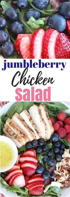 jumbleberry chicken salad @ thevintagektichenchef.com