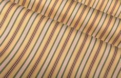 #GoGreen with this organic, environmentally sustainable cotton blend fabric. The traditional stripes adds a beautiful element to interior designs.
