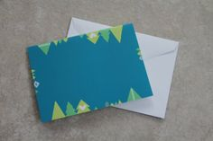 Christmas Card  Trees  Turquoise by LoveRockResidue on Etsy, $4.00