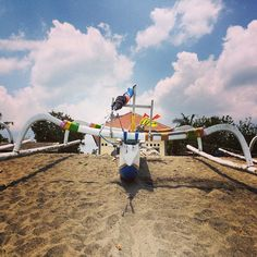 Love outriggers! #outriggers #upsticksngo #lombok #senggigi #travel #travellingtheworld #travelphotos #beachphotos #boats | Flickr - Photo Sharing!