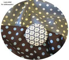 """Stoffpaket♥Loop♥f.Selbermacher Dots """"grau-braun"""" + von ஐღKreawusel-aufgehübschtஐღ  auf DaWanda.com"""