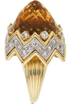 Citrine, Diamond, Gold Ring, Verdura
