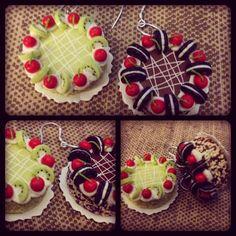 Mini cake earrings!