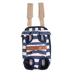 FantasticBaby Pet Legs Out Travel Front Style Canvas Stripe Dog Puppy Cat Carrier Bag Backpack 4Sizes M -- Find out more about the great product at the image link.(This is an Amazon affiliate link and I receive a commission for the sales)