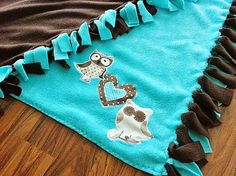 HEDERVIGA / Teplučká cestovná flísová deka ...sovičky Fleece decke