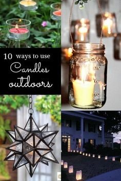 10 different ways to light up the garden at night with candles from DIY projects to gorgeous displays #spon #garden #candles