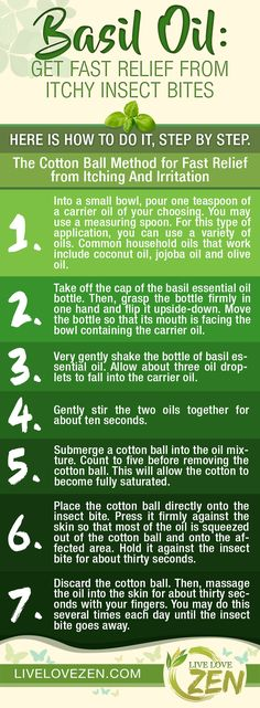 Basil Oil: Get Fast Relief from Itchy Insect Bites
