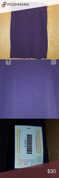*SALE* Dark Purple Cassie Brand new 2x dark purple Lularoe Cassie LuLaRoe Skirts