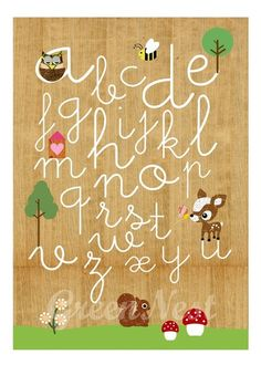 Learn ABC with cute animals- Owl, Squirrel, Deery, bee and Little Treehouse collage poster print via Etsy Abc Poster, Poster Prints, Kindergarten Language Arts, Illustrations, Illustration Animals, Woodland Creatures, Woodland Animals, Scrapbook Paper Crafts, Scrapbooking
