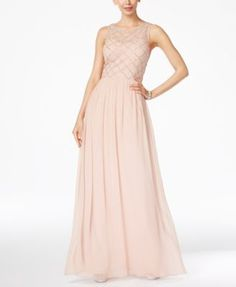 Adrianna Papell Adrianna Papell Beaded A-Line Gown Bridesmaid Dress Mob Dresses, Formal Dresses For Women, Girls Dresses, Flower Girl Dresses, Bride Dresses, Wedding Dresses, Party Dresses, Purple Bridesmaid Dresses, Bridesmaids