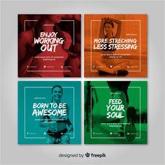 Gym flyer vectors, photos and psd files Flyer Design, Layout Design, Web Design, Design Poster, Banner Design, Poster Designs, Vector Design, Social Media Banner, Social Media Design