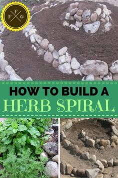 This is so cool! Step-by-Step Tutorial on How to Build an Herb Spiral in your Garden. Great for green thumbs who love herbs and other gardening fans!