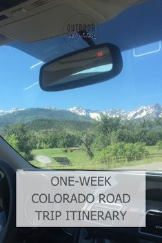 See the best of Colorado with this six-day itinerary perfect for beginner road trippers. Road Trip To Colorado, Road Trippers, Road Trip Hacks, Travel Guide, Day, Tips, Advice, Tour Guide, Hacks