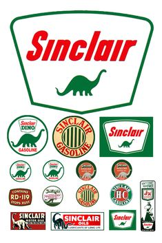 1:25 G scale model Sinclair Oil gasoline station gas signs