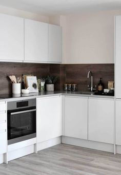 Spring Wharf – a stylish rental development in Bath (These Four Walls) Ikea Kitchen Cabinets, Kitchen Decor, Kitchen Design, Kitchen Ideas, Grey Kitchens, Small Kitchens, Two Bedroom Apartments, Built In Wardrobe, Slow Living