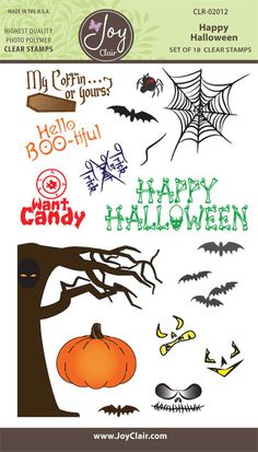 Happy Halloween Clear Stamps - Joy Clair - 1