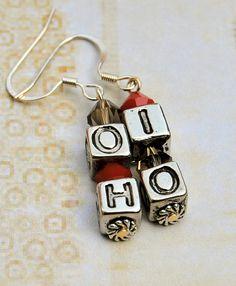 OH-IO Ohio State Buckeye Earrings