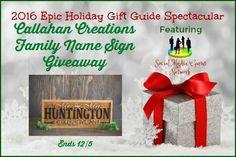 Callahan Creations Family Name Sign Giveaway