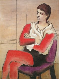 Pablo Picasso – Saltimbanque Seated with Arms Crossed, 1923 Source Retroavangarda Kunst Picasso, Art Picasso, Picasso Blue, Picasso Paintings, Picasso Portraits, Picasso Drawing, Henri Rousseau, Henri Matisse, Georges Braque