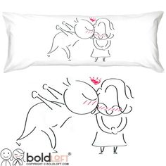 BOLDLOFT A Big Kiss Body Pillow Cover-Cute Body Pillow Cover2 Year Anniversary GiftsValentines Day GiftsBirthday Gifts for HerRomantic Gifts for Her Review