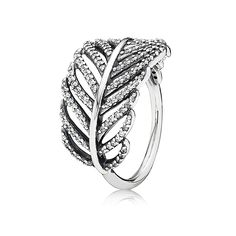 PANDORA | Silver ring with micro bead-set cubic zirconia