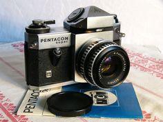 Pentacon Super SLR camera and Carl Zeiss Jena 1Q thorium Pancolar 50mm F1.8 M42