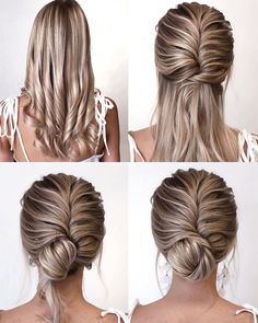Easy Hairstyles Step by Step DIY – Easy Hairstyles DIY Shoulder Length Lazy Girl - Hairstyle Lazy Girl Updos For Medium Length Hair, Up Dos For Medium Hair, Short Hair Updo, Medium Hair Styles, Long Hair Styles, Casual Updos For Medium Hair, Lazy Girl Hairstyles, Braided Hairstyles Tutorials, Diy Hairstyles