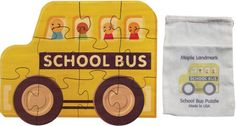 """Our School Bus puzzle has 11 large interlocking pieces cut from 1/8"""" hardwood plywood. Each puzzle measures about 11"""" high and 12"""" long. Our School Bus puzzle has 11 large interlocking pieces cut from 1/8"""" hardwood plywood. Each puzzle measures about 11"""" high and 12"""" long."""