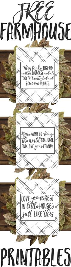 Free Plaid Farmhouse Printables — The Mountain View Cottage