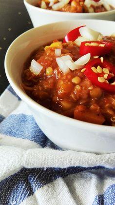 Vegansk chili sin carne, som også kødspisere vil elske!