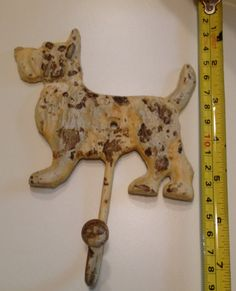 Terrier Decorative Wrought Iron Hook by TheRecycledPast on Etsy