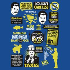 """Ron Swanson, of """"Parks and Recreation,"""" print/poster/t-shirt ($24.54)."""
