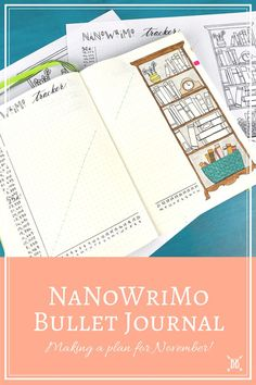 I'm SO excited to introduce my NaNoWriMo Bullet Journal over on the blog today! Come check out what I'm putting in it, and how I'll be checking my progress along the way. Oh, and there's a free printable in it for you too :)