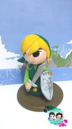 Linda figura personalizada Link - personagem principal de the legend of Zelda (spirit tracks)